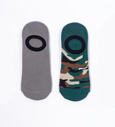 Pack No Show Socks 2019 Camo/Verde&Negro/Única