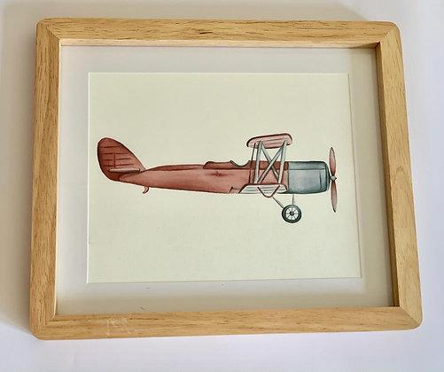 Cuadro Avion Rojo