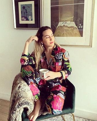 Pijama Algodon Negro