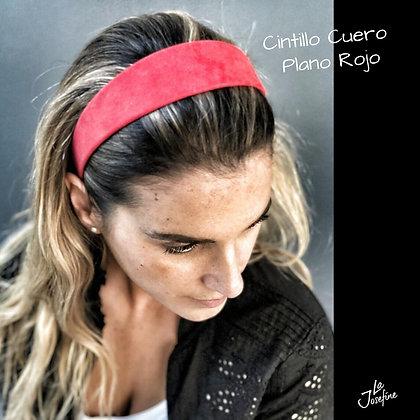 Cintillo Cuero Plano Rojo (IGNACIA ROJO)