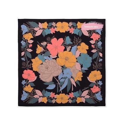 Pañuelo Botánica Vintage Negro 70x70