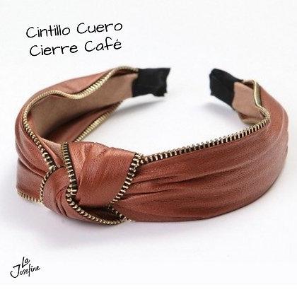 Cintillo Cuero Cierre Café (CCC)