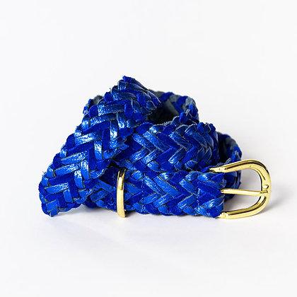 Cinturon Trenzado Azul