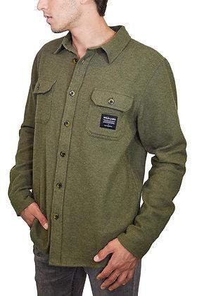 Camisa Urban Algodon Organico Hombre Verde Militar