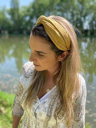 Cintillo Turbante Lino Amarillo (Valentina Amarillo)