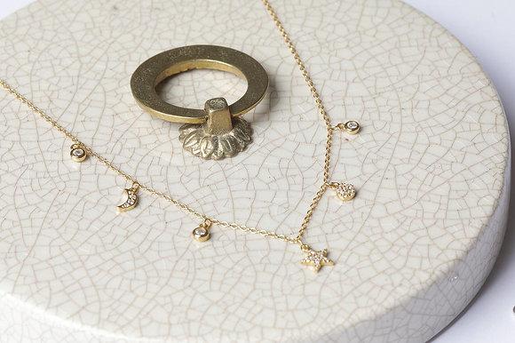 Collar lucky charm gold