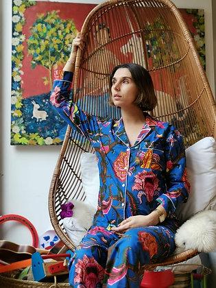 Pijama Algodon Azul