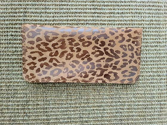 Billetera Adela Leopardo Caramelo