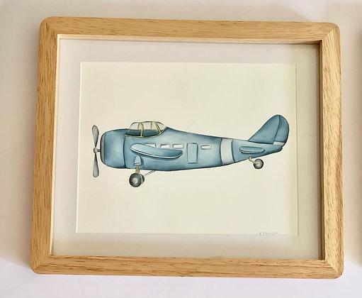 Cuadro Avion Azul