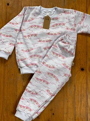 Pijama Invierno Niña Conejos