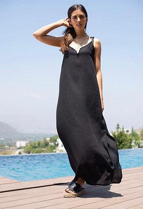 Vestido Lino Negro