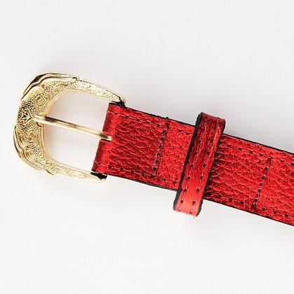 Cinturon Puntini Rojo