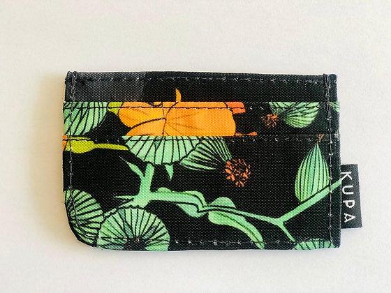 Portadocumentos Barichara 02.04 Estampado negro con flores amarillas y verdes y
