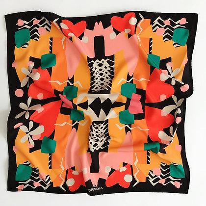 Pañuelo Geométrico Negro 90x90