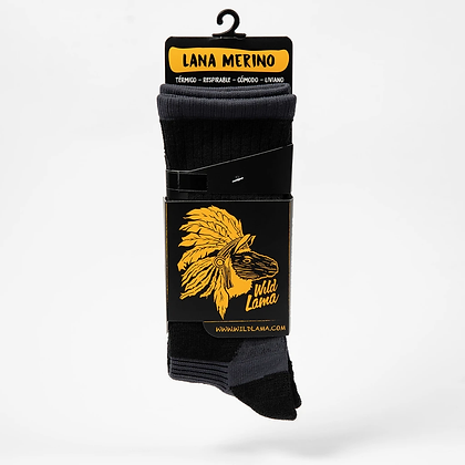 Wool Sock Woman Black 2020