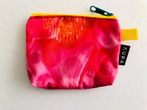 Monedero Neiva 02.01 Estampado de anturios rojos y rosados