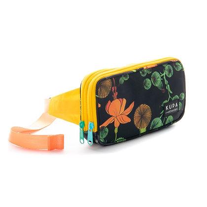 Cánguro Raquira 02.04 - Banano con estampado de flores amarillas y verdes
