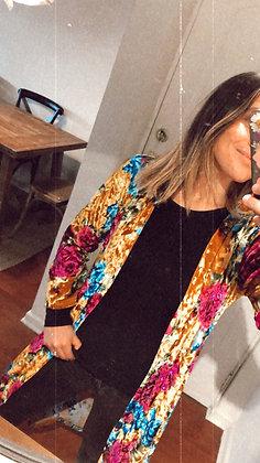 Kimono Velvet Flores (KV03L)
