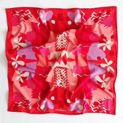 Pañuelo Geometrico Rojo 50X50