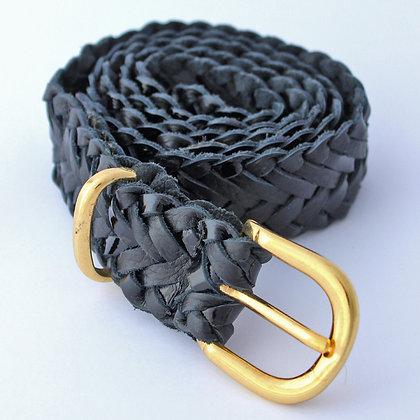 Cinturon Trenzado Negro