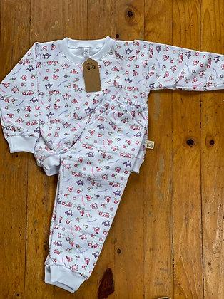 Pijama Invierno Niña Pollitos