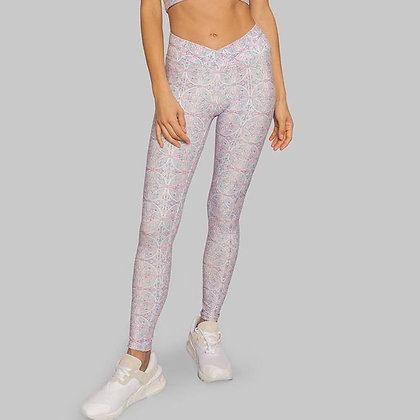 WOLVEN Ruched Crossover Legging Riviera