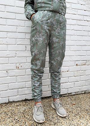 Pantalon Verde Con Palmeras