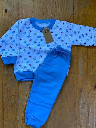 Pijama Invierno Niño Trenes