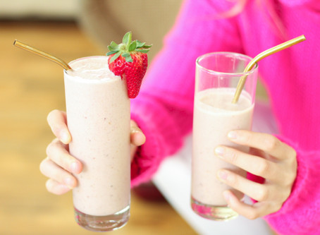 Strawberry And Peanut Butter Smoothie