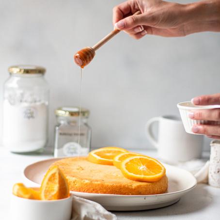 Vegan Orange and Granadilla Cake