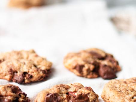 Crunchy Choc Nut cookies