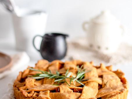 Mushroom butternut pie