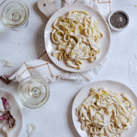 Creamy Lemon and Garlic Tagliatelle
