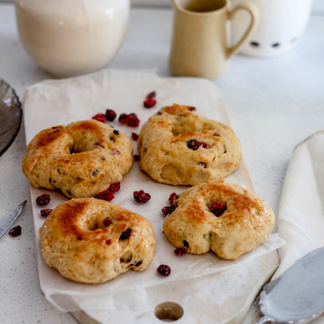 Baked cranberry doughnuts