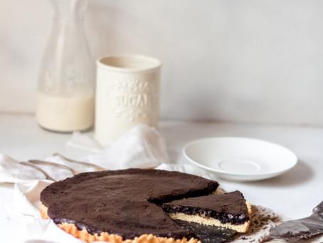 Vegan Chocolate Brownie Pie