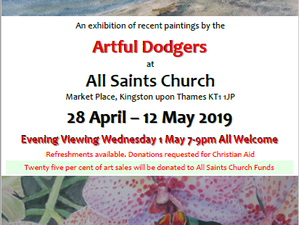 Excited to be exhibiting in All Saints again!
