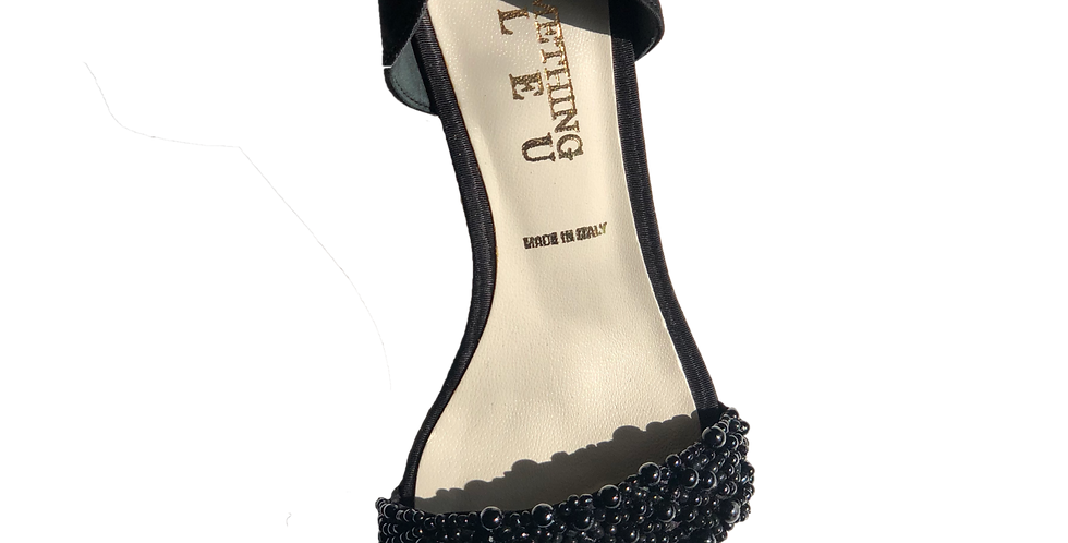 Black Beaded Heel