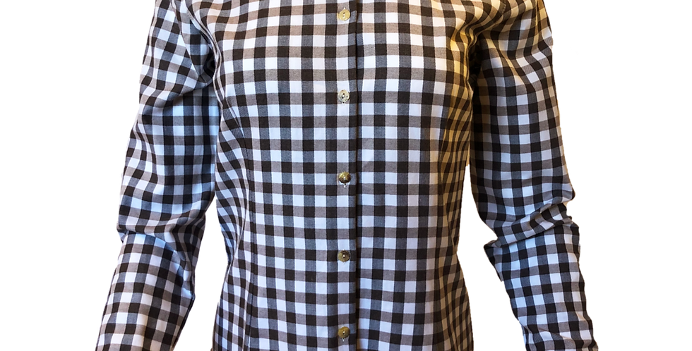 Brown Check Button Up