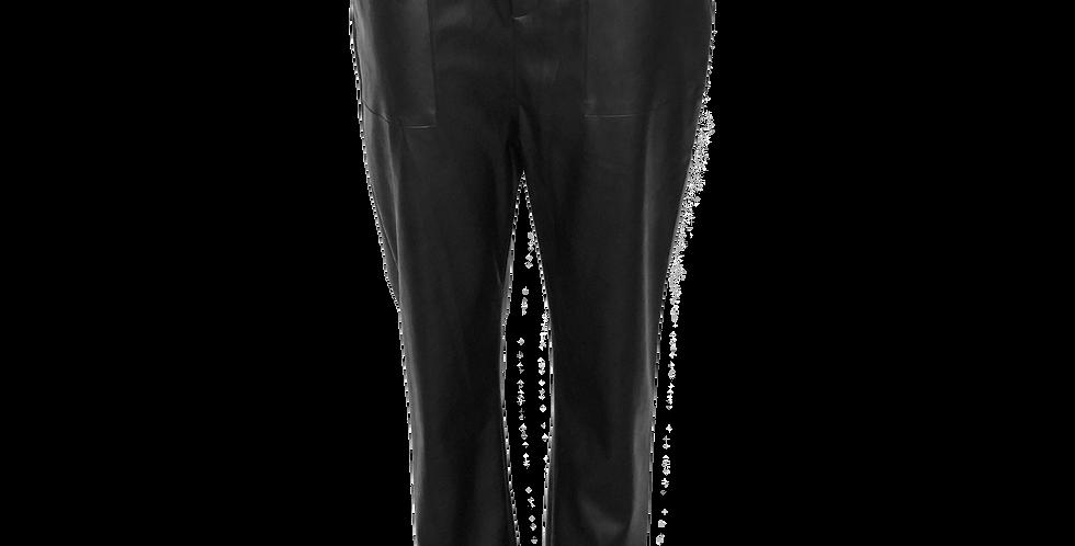 Faux Leather Paper Bag Pant