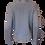 Thumbnail: Blue Ribbed Knit Sweater