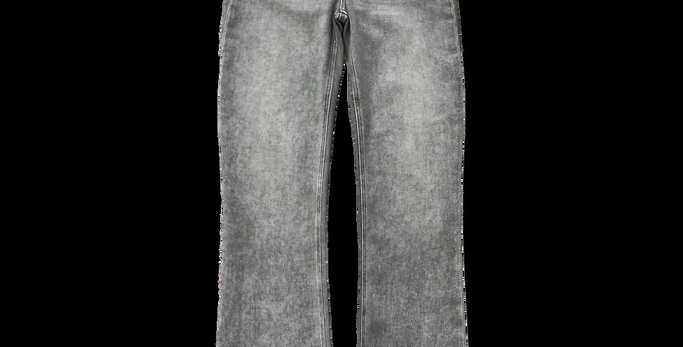 Raw Edge Hem Jeans