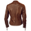 Thumbnail: Tan Leather Moto Jacket