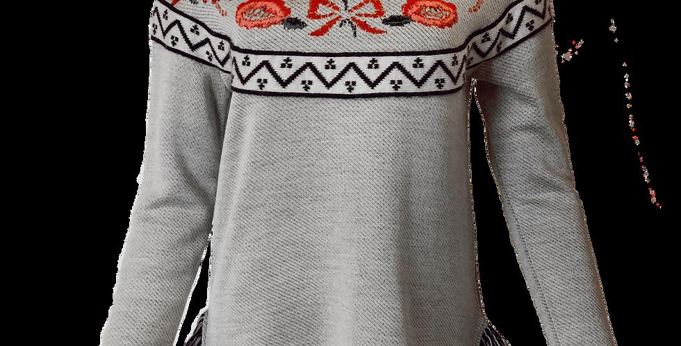 Floral Yoke Sweater