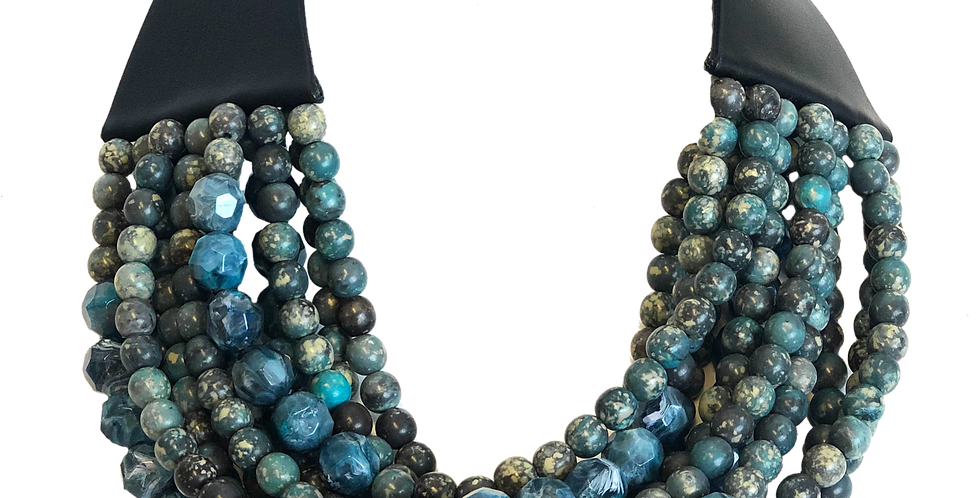 Blue & Green Layered Necklace