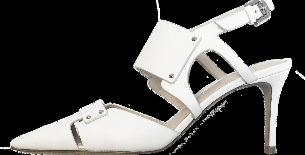 White Cutout Heels