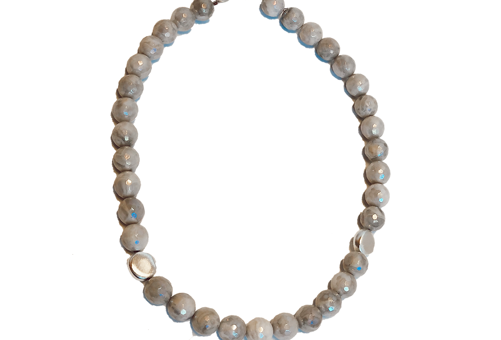 Short Iridescent Necklace