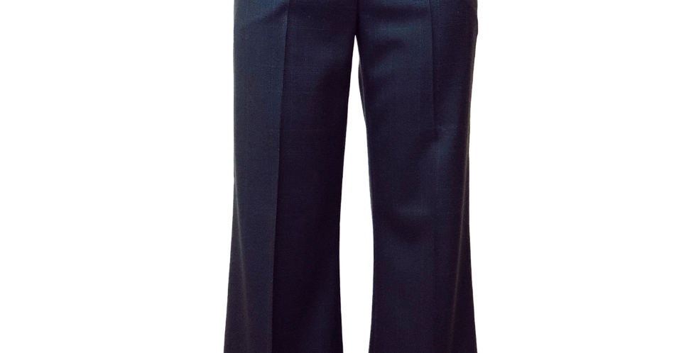 Navy Plaid Trouser