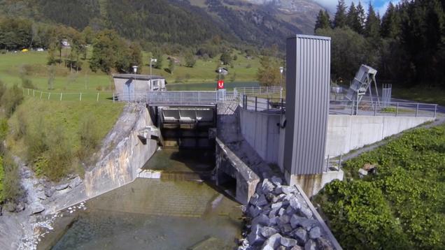 Der Fischlift am Gadmerwasser   2016