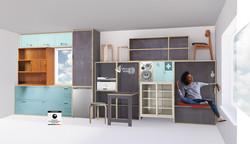 ReFrame modulares Möbelsystem