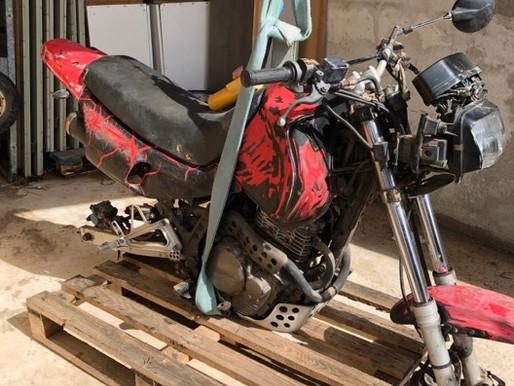 Knock on Wood : La Honda 650 de 1992  Jean Marc Olive et Taverne Motorcycle